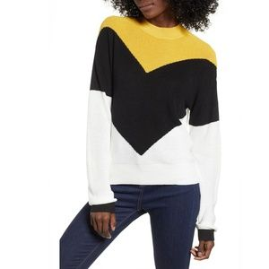 BP Chevron Stripe Long Sleeve Sweater